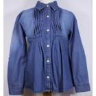 """Рубашка """"Aziz bebe"""" (синяя) джинсовая"""