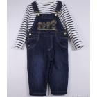 """Комплект """"Aziz bebe"""" (синий, коричневый) джинсовый"""
