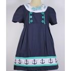 """Платье """"Badi Junior"""" синее с якорями"""