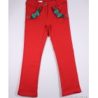 """Брюки """"Badi Junior"""" (красные) с зелеными бантами"""