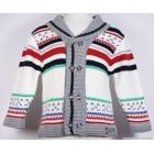 """Пуловер """"Bebepan"""" (белый) в цветную полоску"""