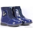 """Ботинки """"Buddy Dog"""" (красные, синие) кожа/флис"""