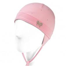 """Шапка """"Chobi"""" (хлопок) белая, светло-розовая"""