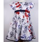 """Платье """"Comusl"""" белое с синими цветами"""
