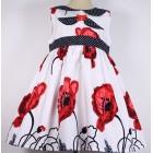 """Платье """"Gamzelim"""" белое в крупные красные маки"""