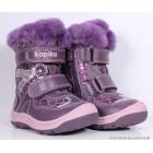 """Сапожки """"Kapika"""" (кожа/мех) фиолетовые"""