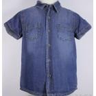 """Рубашка """"mamino"""" (синяя) джинсовая"""