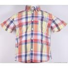"""Рубашка """"Mayoral"""" (оранжевая клетка) с коротким рукавом"""