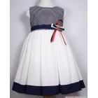 """Платье """"Pamina"""" (белое) синяя полоска"""