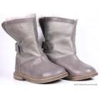 """Ботинки """"Pom d'Api"""" (кожа/мех) серые"""