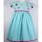 """Платье """"Qu Qi"""" голубое в мелкий горошек"""