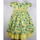 """Платье """"Qu Qi"""" с желтой оборкой"""
