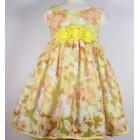 """Платье """"Qu Qi"""" желтое"""