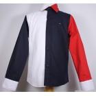 """Рубашка """"Tommy Hilfiger"""" (белый/синий/красный) классическая"""
