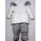 "Комплект ""Wojcik"" (куртка белая, комбинизон серый)"