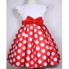 """Платье """"Yimeishidi"""" (красное) белый горошек"""