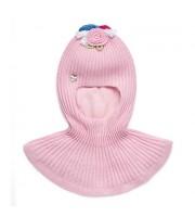 Шлем фактурной вязки (розовый) Chobi