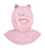 Шлем хлопковый с ушками (розовый) Chobi