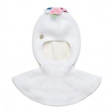 Шлем фактурной вязки (молочный) Chobi