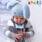 """Шлем """"Chobi"""" (зайка для мальчика) голубой"""
